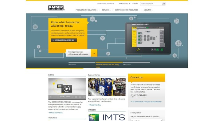 Kaeser USA launches new website